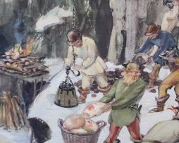 Skolplansch   Bergsbruk under 1500-talet